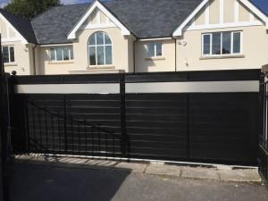 black plastic gates