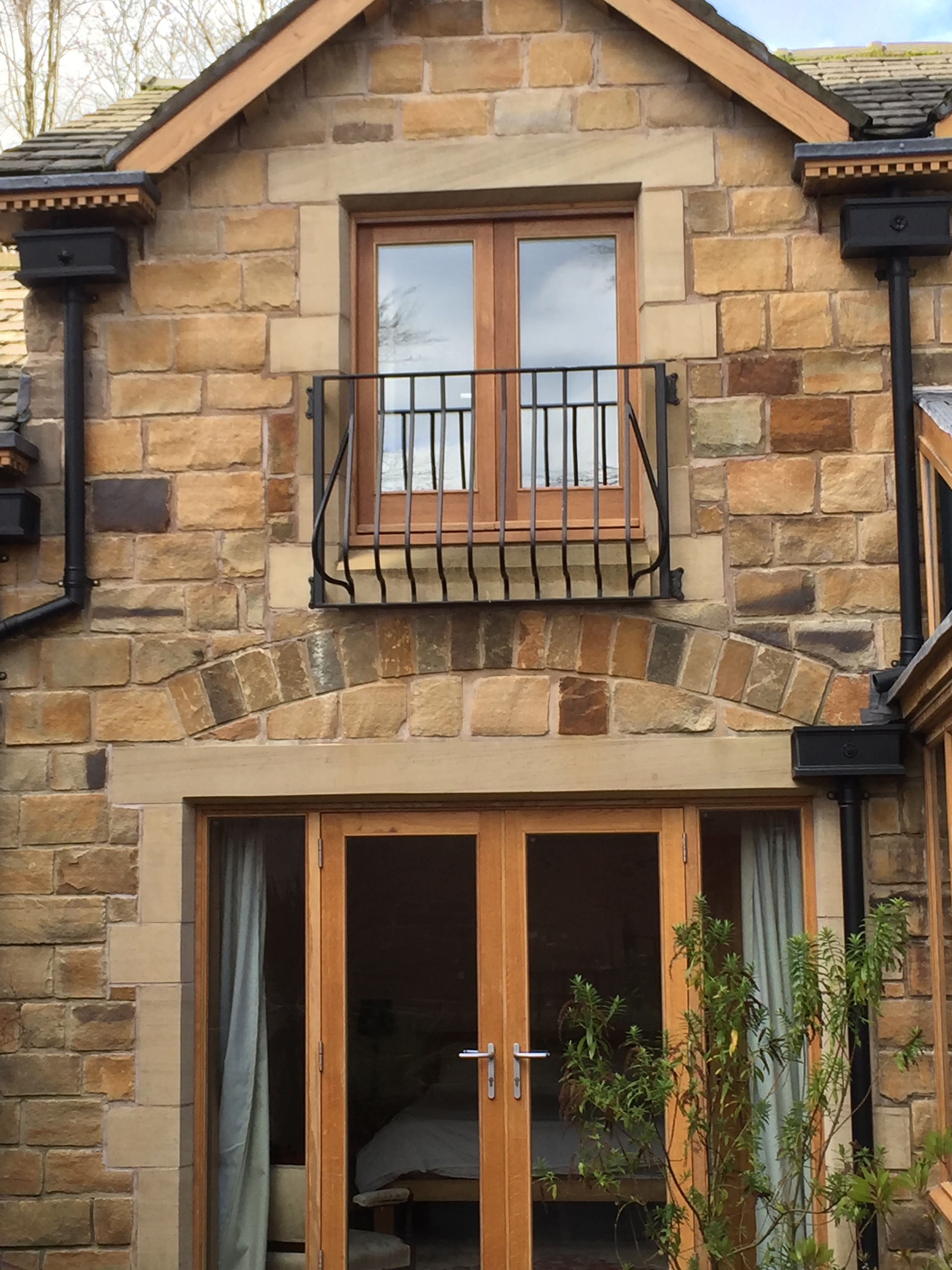 Juliette Balcony with Matching Railings and Gates in Lymm